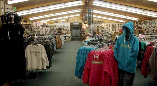 Log Cabin Store Clothing Department
